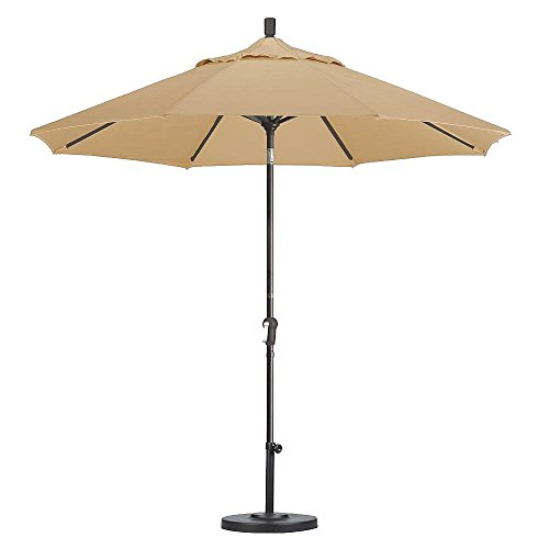 Patio - Umbrella Large Outdoor Adjustable Parasol W/Cantilever Base Stand - Best Sun Uv Protection For Garden, Patio, Lawn, Backyard, Beach, Pool. Solar Cover, Big Shade. (Champagne)
