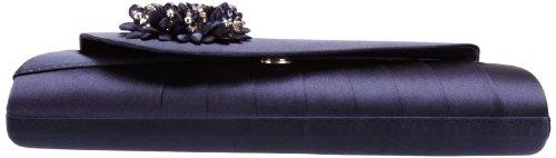 Lunar ZLR081 - Bolso de mano de satén mujer azul - azul