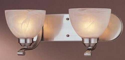 Minka Lavery 5422-84-PL, Paradox, 2 Light Bath Fixture, Brushed - Deco Bath Four Light