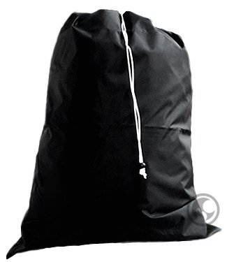 Large Laundry Bag, Drawstring, Locking Closure - Color: Black,Size: 30x40