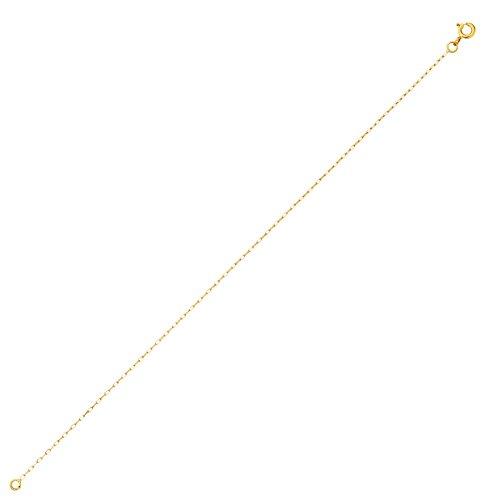 DIAMANTLY Collier or 750 forcat clair diamante 1 mm - 50 cm