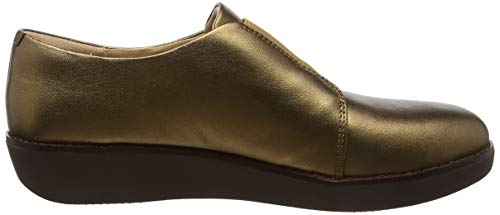 Laceless Elastic Derby Para Leather Fitflop bronze 012 Dorado Mocasines Mujer Metallic dnUxqp