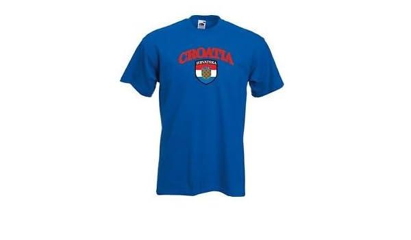 Amazon.com : Camiseta Hombre Croacia Hrvatska Equipo Nacional F?tbol - Todas Las Tallas : Sports & Outdoors