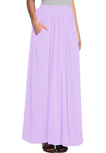 Maxi CoutureBridal Femme Clair Violet femme Spandex d't longue Jupe Jupe xPqqXTwCa