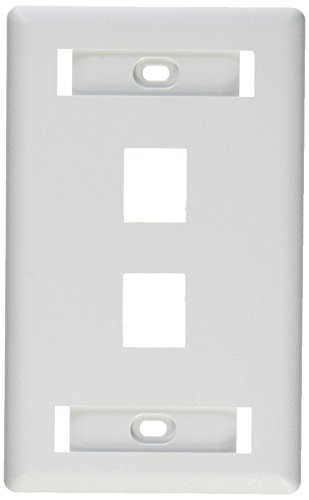 (Hubbell IFP12W Flush Phone/Data/Multimedia Wall Plate, 1 Gang, 2 Port, White (Pack of 25))