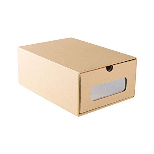 (Bverionant Kraft Paper Shoes Box Multi-Purpose Boot Boxes for File Dress Toys Storage)