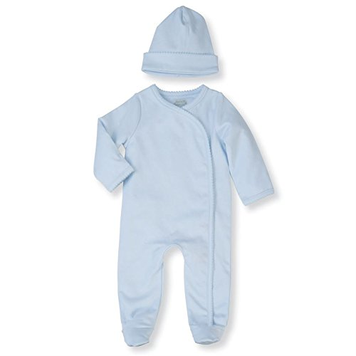 Mud Pie 2Piece Long Sleeve Onesie Layette Gift Set, Blue