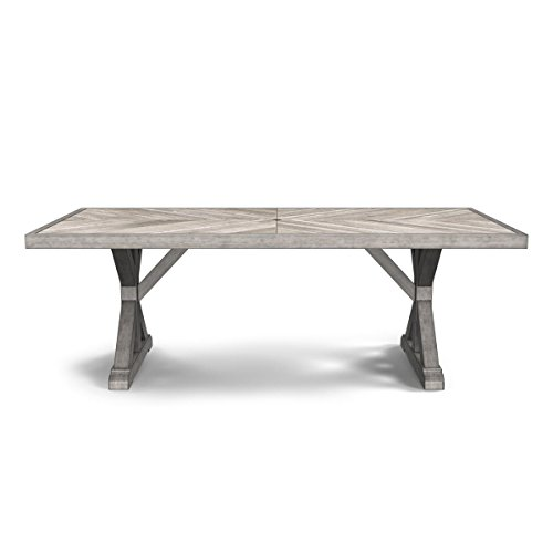 Table Rectangular Dining Set Teak (Ashley Furniture Signature Design - Beachcroft Outdoor Rectangular Dining Table with Umbrella Option - Porcelain Top - Beige)