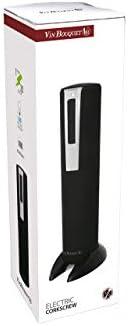 Vin Bouquet FID 002 Descorchador Eléctrico Profesional Base Recargable 12 V, Negro, 1 cm