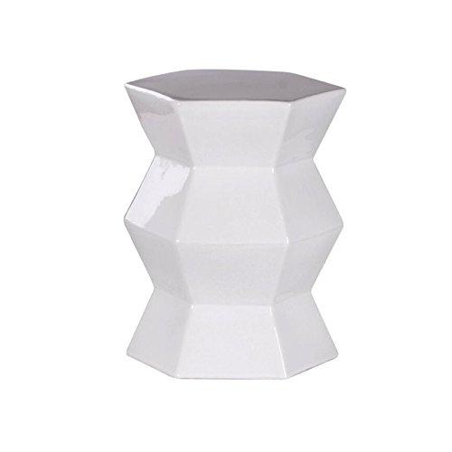 Blanc Ceramic (Abbyson Living Blanche Ceramic Garden Stool in White)