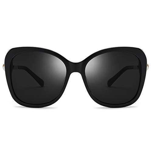 Tea Al Uv Sol Lente Black color Magai Aire Protección Conducción Polarizada Playa De Fibra Agraciadas Vacaciones Gafas Perlas Acetato Marco Libre qgZS1HP