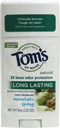 Tom's of Maine Long Lasting Deodorant Stick-Mountain Spring-2.25 oz