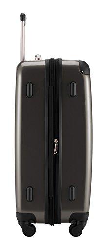 HAUPTSTADTKOFFER® 119 Liter Hartschalenkoffer (75 x 50 x 30 cm) + DESIGN KOFFERANHÄNGER (Titan)