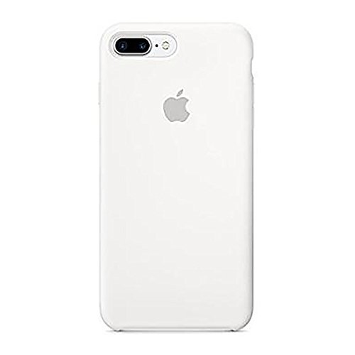 iphone 8 Plus(5.5Inch) Liquid Silicone gel simple anti-drop case,with Soft Microfiber Cloth Lining Cushion for iphone 8 Plus (White) by Elf digital