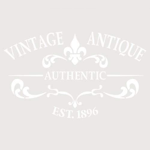 TODO-STENCIL Deco Zusammensetzung 252 Vintage Antik Au/ßenma/ße 20 x 30 cm Innenma/ße Design 17 x 28 cm