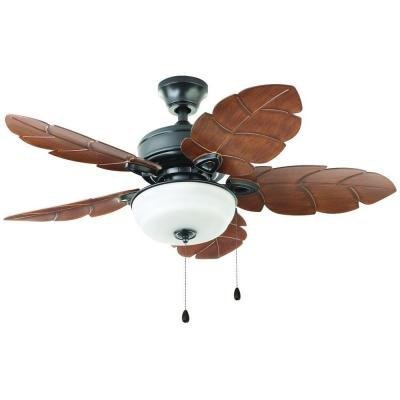 Outdoor/Indoor Natural Iron Ceiling Fan Palm Cove 44 in. Dec