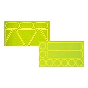 Nathan Reflective Sticker Pack, High Viz Yellow