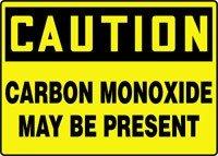 "CAUTION CARBON MONOXIDE MAY BE PRESENT 7"" x 10"" Dura Aluma-L"