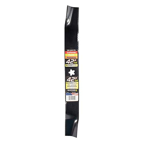 Maxpower 331714 Mower Blade For 42 Inch Cut Poulan/Husqvarna/Craftsman 134149, 532134149