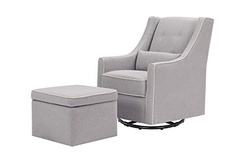 Davinci Owen Glider and Ottoman, Gray and Cream ()