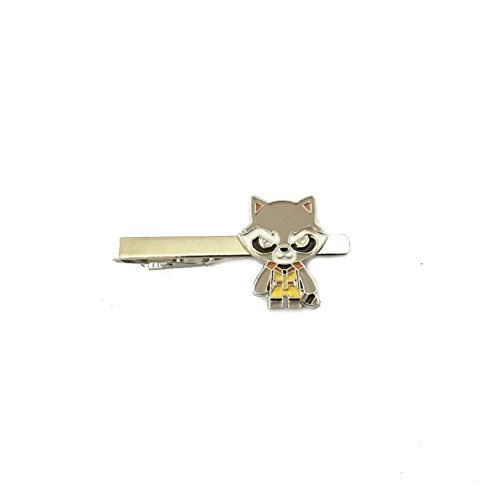 J&C Family Owned Brand Classic Marvel Rocket Raccoon Tieclip w/Gift Box