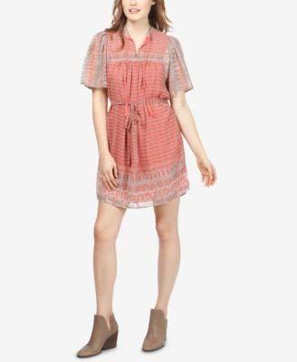 Lucky Brand Women's Jenna Dress, Pink/Multi, XL