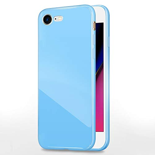 iPhone 7 Jelly Case, ANLEY Candy Fusion Series - [1.5mm Slim Fit] [Shock Absorption] Classic Jelly Silicone Case Soft Cover for Apple iPhone 7 (4.7 inch) (Sky Blue) + Free Clear Screen Protector