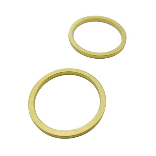 40pcs 20mm Raw Brass Round Circle Frame Connectors Links Geometry Minimal Versatile Supplies Lead Nickel Chromium Free 01040433