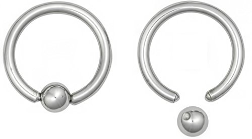 Set of 2 Rings: 10g Surgical Steel 5/8