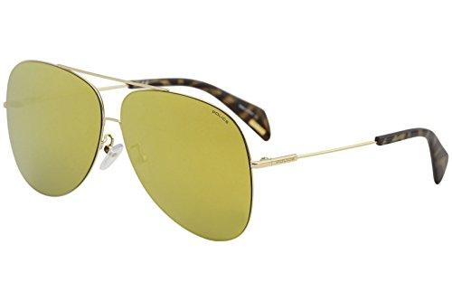 Sunglasses Police GOLDENEYE 3 SPL406 300G Unisex Gold Aviator Gold - Golden Glasses Eye