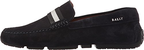 Bally Mens Pearce Driver Navy Suede