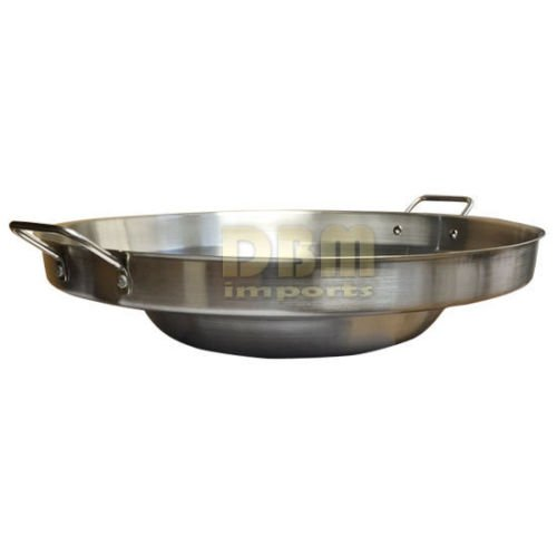 23'' Round Stainless Steel Concave Comal Pozo Griddle Taco Grill Fry Pan Wok Cook