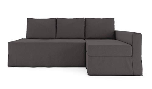 TLYESD Cotton Loose Fit Friheten Sleeper Sofa Cover for IKEA Friheten 3 Seat Sofa Bed Slipcover and Sectional Chaise Sofa Cover (Hidden Sofa Bed Cover is not Included)