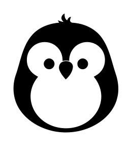 Cute penguin Vinyl Decal Sticker -