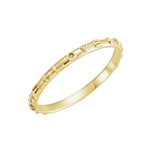 10K Yellow Gold True Love Chastity Ring with Packaging Size 8 (Gold True Ring Love Chastity)