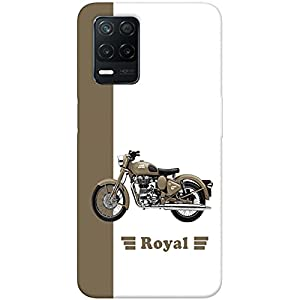 SharpEseller Bullet Bike Printed Soft Designer Mobile Back Cover for Realme 8 5G