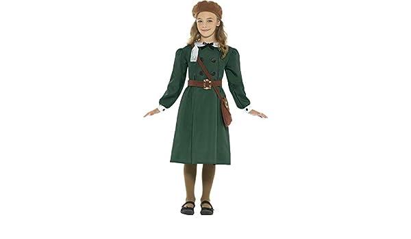 Girls 1940/'s Schoolgirl Fancy Dress Costume Kids Wartime WW2 Outfit 4-14 Years