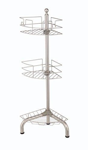 HomeZone Adjustable Standing Shower Nickel