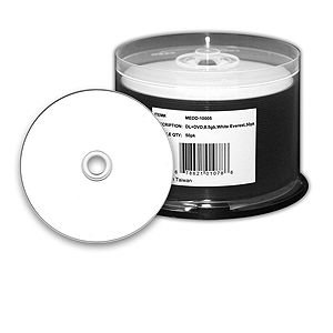Microboards DVD+R DL, 8x, 8.5GB, Everest hub printable, 6 50 disc spindles by Microboards