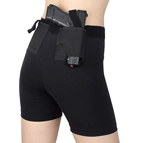 Kosibate Short Gun Holster for Women Concealed Carry with Two Pistol Pockets Clothing Concealment Leggings