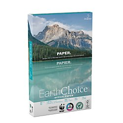 "Domtar Earth Choice Office Paper, Copy Fax Laser & Inkjet Printer, 92 Bright White, ColorLok, Acid Free, Ream,8.5"" L x 11"" H, 20 lb, 500 Total Sheets"