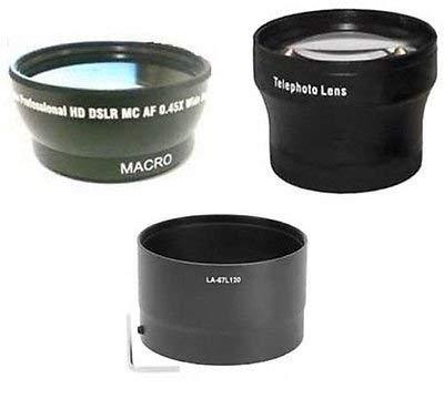 ワイドレンズ+ Teleレンズ+チューブアダプタバンドルfor Nikon Coolpix p500カメラ   B01DLNKYW6
