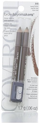 Covergirl Easy Breezy Brow Fill and Define, 515 Honey Brown (Pack of 3)
