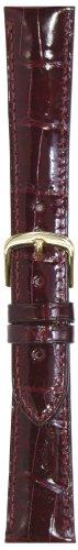 Hadley-Roma Men's MS2007RC-180 18-mm Burgundy Genuine Alligator Leather Watch Strap