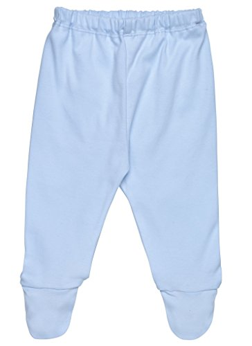 (Under the Nile Baby Boy Footed Pant Size 0-3M Solid Blue Organic Cotton)