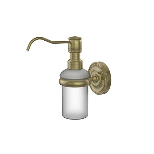 Allied Brass PR-60-ABR Prestige Regal Collection Wall Mounted Soap Dispenser, Antique Brass ()