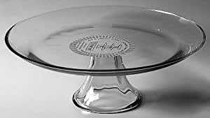 "Anchor Hocking Presence-Clear 13"" Cake Stand/Pedestal"