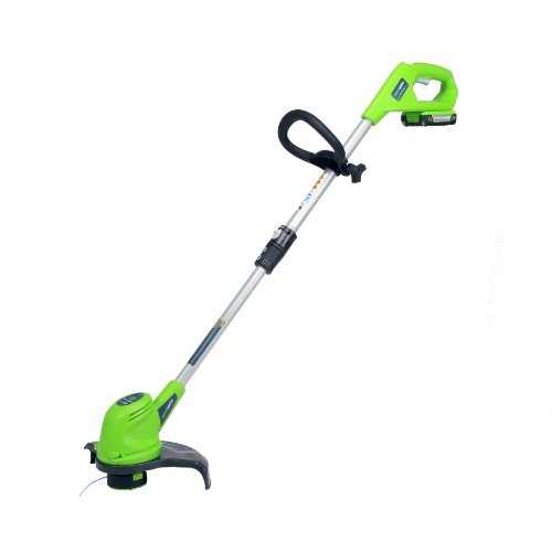 GreenWorks 21262 20V 12-Inch Cordless String Trimmer, 2AH Battery and Charger Included