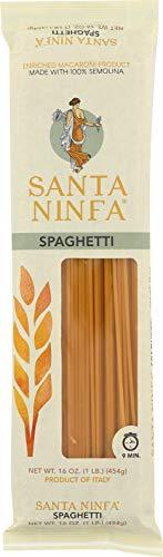 Santa Ninfa Spaghetti Italian Pasta, 1 Pound (Pack of 12)