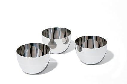 Alessi SG59 Mami - Cuencos de acero inoxidable (3 unidades ...